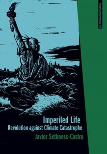 Imperiled Life cover: the Statue of Liberty with waves above her waist